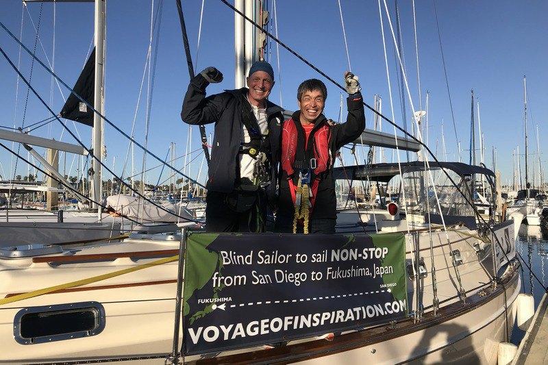 Слепой японский мореплаватель пересек на яхте Тихий океан