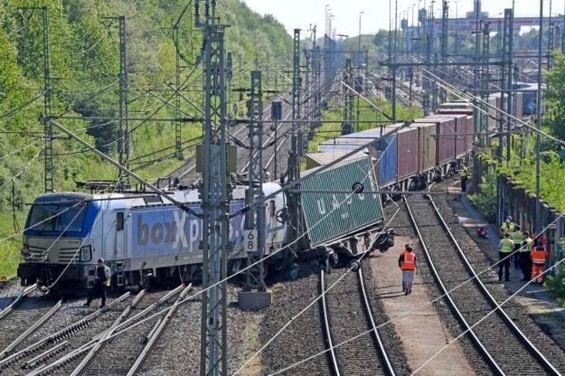 В Германии произошла крупная железнодорожная авария