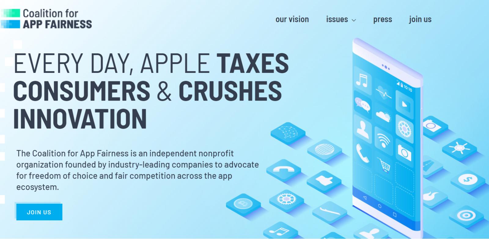 Разработчики приложений создали коалицию для борьбы с монополизмом Apple