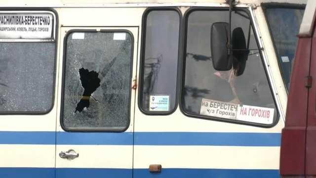 В Сети появилось видео, как луцкий террорист зашел в автобус