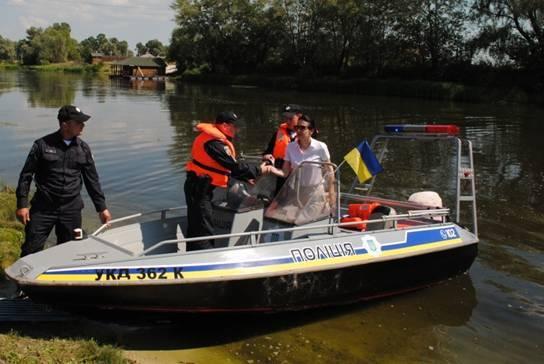 В Киевской области появилась первая патрульная лодка