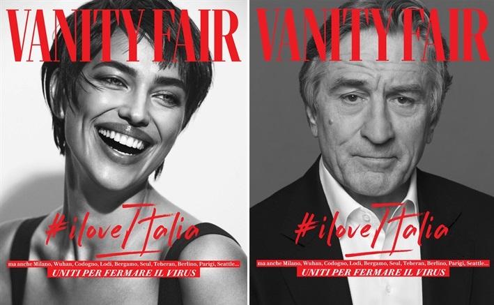 В поддержку Италии: Ирина Шейк и Роберт Де Ниро снялись в специальном фо...