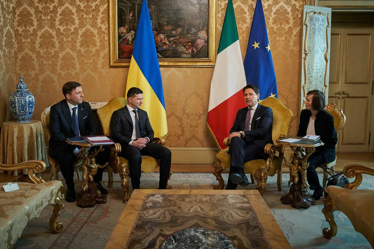 Зеленский провел встречу с премьер-министром Италии Конте