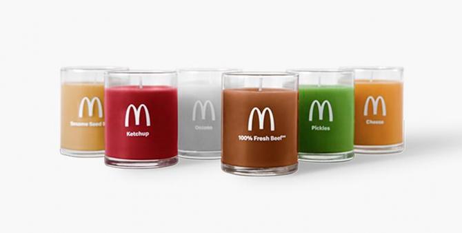 McDonald's выпустили  свечи с ароматом чизбургера