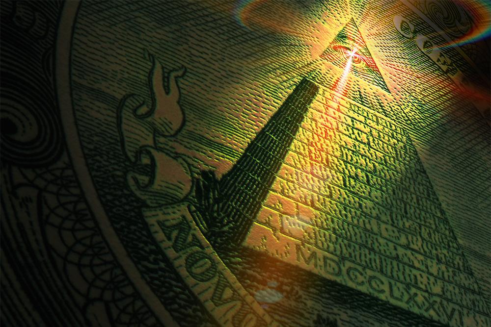 пирамида, глаз, доллар, фото