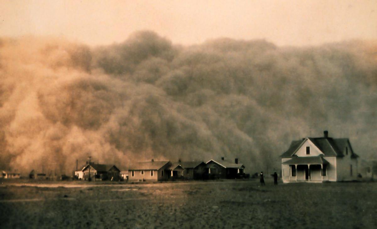 Пыльный котел, пылевые бури в США
