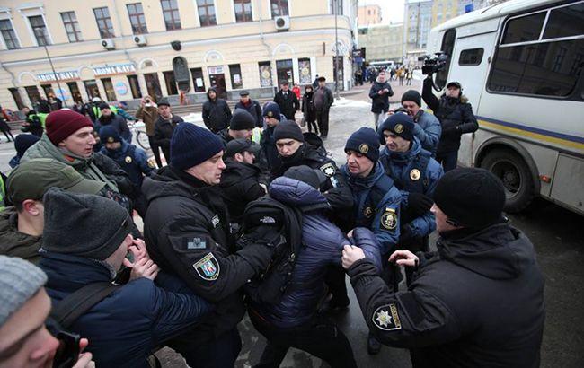 Штурм столичного управления полиции: задержаны около 40 человек