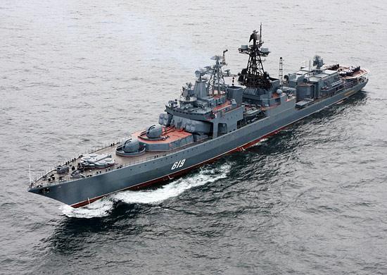 В оккупированный Севастополь прибыл боевой корабль РФ