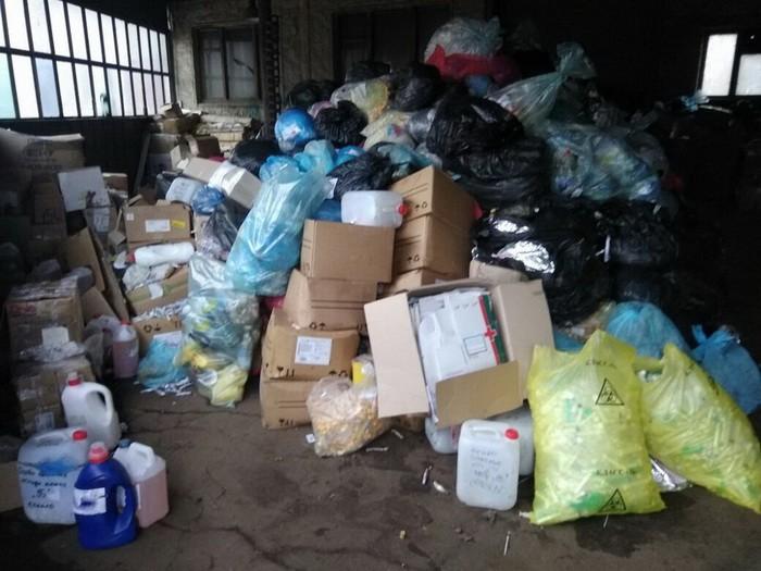 СБУ обнаружила тонны опасных медицинских отходов
