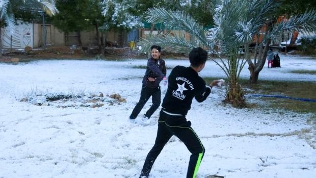 Багдад присыпало снегом – первый раз за последнее десятилетие