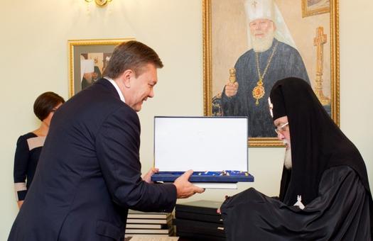 Янукович наградил пять митрополитов РПЦ орденами За заслуги