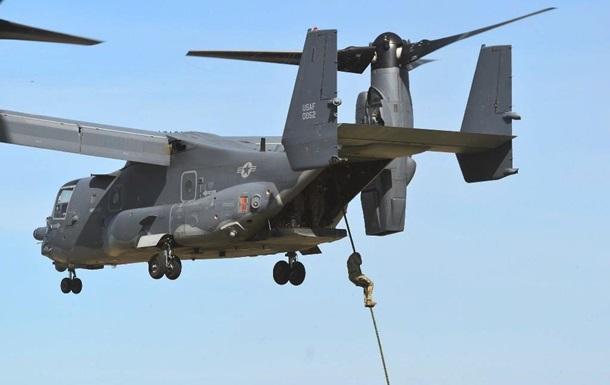Спецназ ВСУ произвел десантирование с конвертопланов США