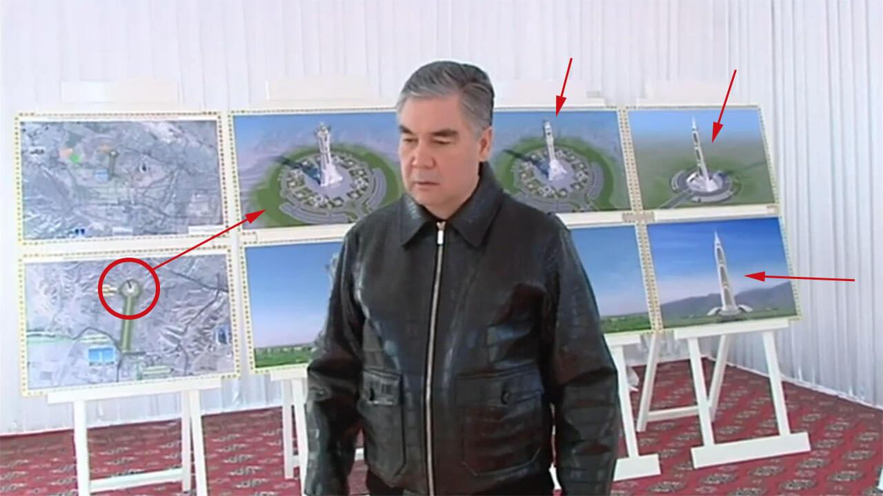 300-метровый монумент будет воздвигнут в честь 30-летия независимости Ту...