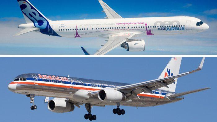 Airbus  побеждает Boeing  в первый день авиакосмического салона в Ле-Бур...