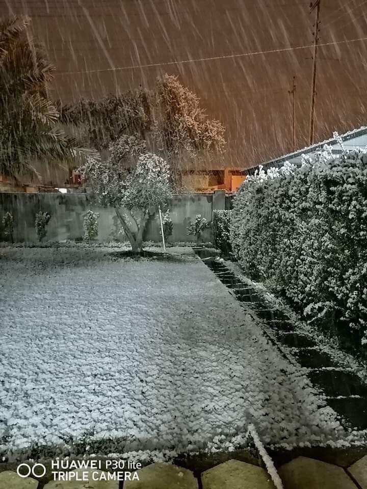 снег идёт в багдаде
