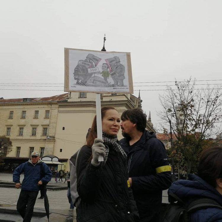 """Вече """"Нет капитуляции"""" прошло в городах Украины"""