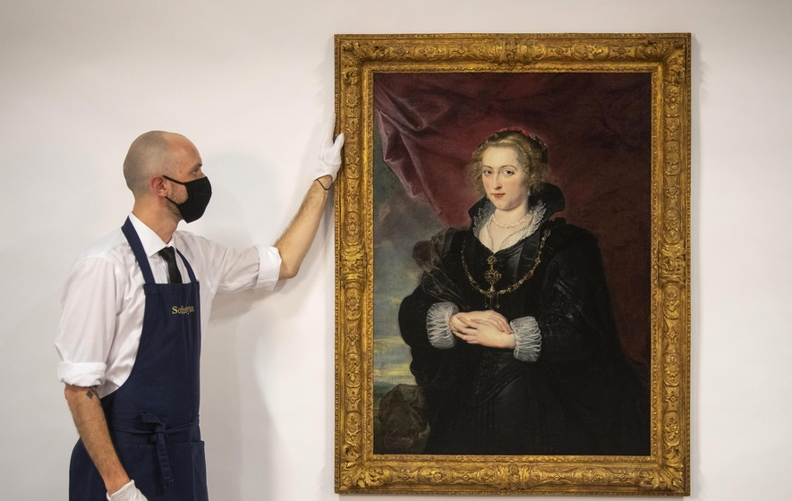 """""""Забытый"""" портрет """"Дамы в черном"""" кисти Рубенса будет продан на аукционе..."""