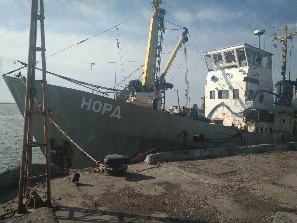 Экипаж судна Норд пытался покинуть территорию Украины
