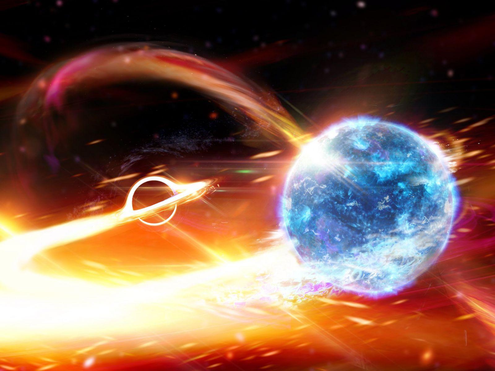 В Большой Медведице черная дыра, возможно, поглотила нейтронную звезду