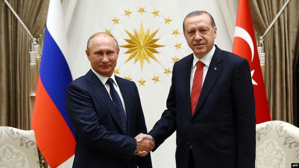 Эрдоган и Путин встретились за несколько часов до истечения перемирия в...