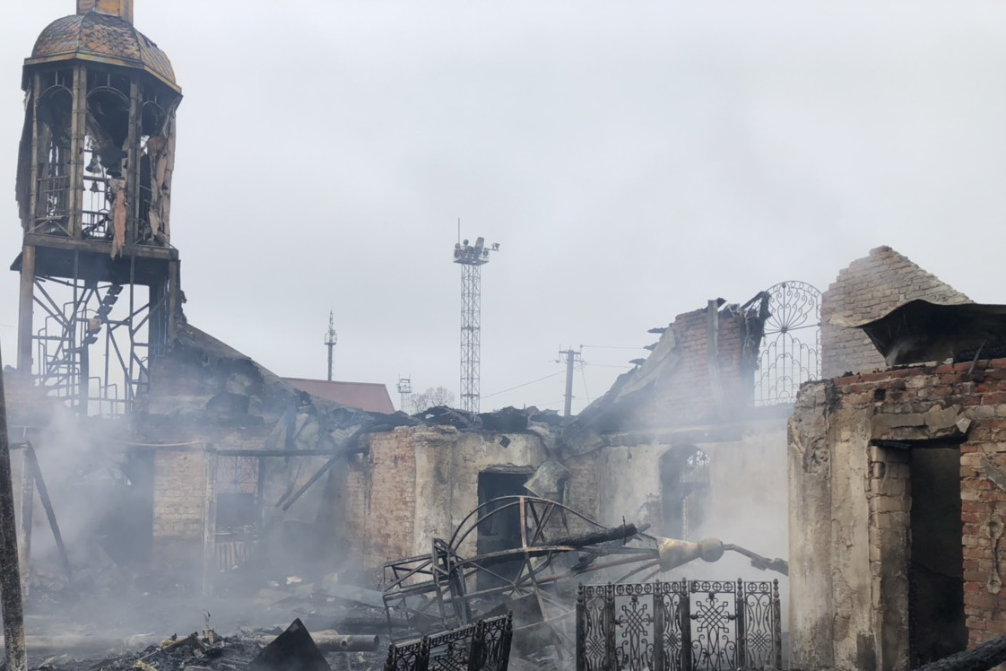 В Харьковской области пожар уничтожил храм