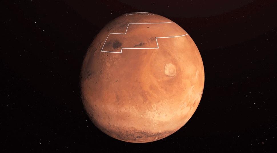NASA сделало карту водяного льда на Марсе, выбирая место посадки для мис...