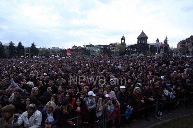 В Армении начались протесты в городе Гюмри
