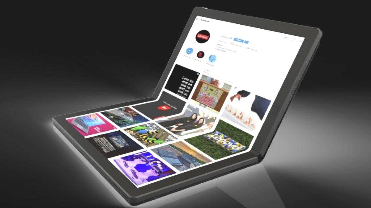 Lenovo показала первый в мире гибкий ноутбук
