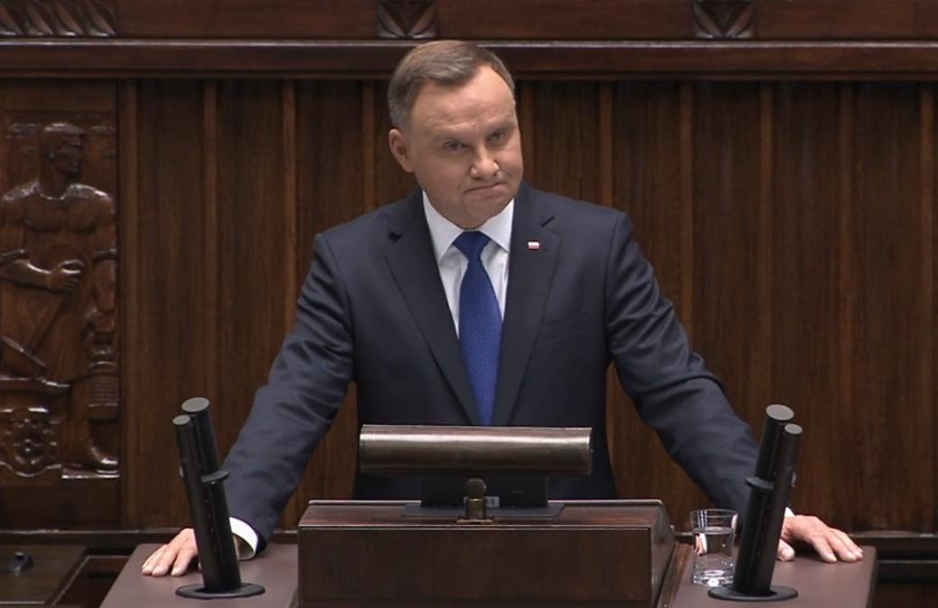 Президент Дуда добавил Украину в свою инаугурационную речь