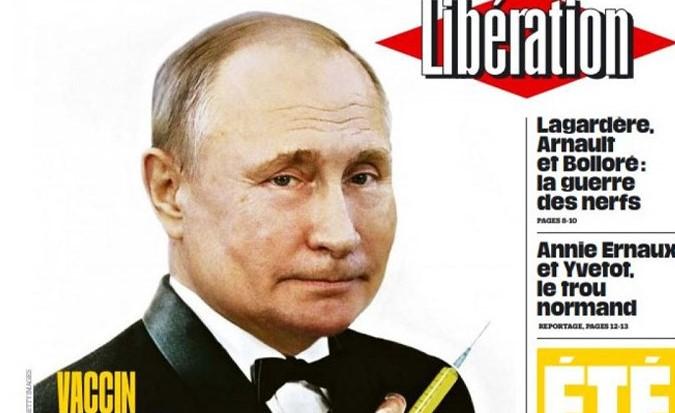 Французская Liberation разместила на обложке изображение Путина в образе...