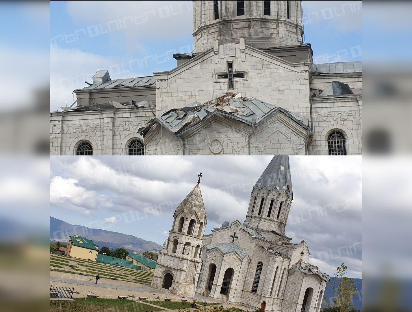 Азербайджанские военные обстреляли собор XIX века в Карабахе