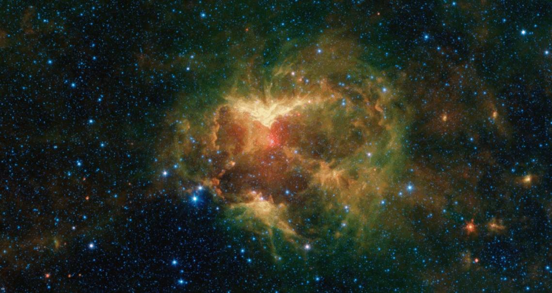 """NASA нашло туманность, похожую на хеллоуинский """"фонарь Джека"""""""
