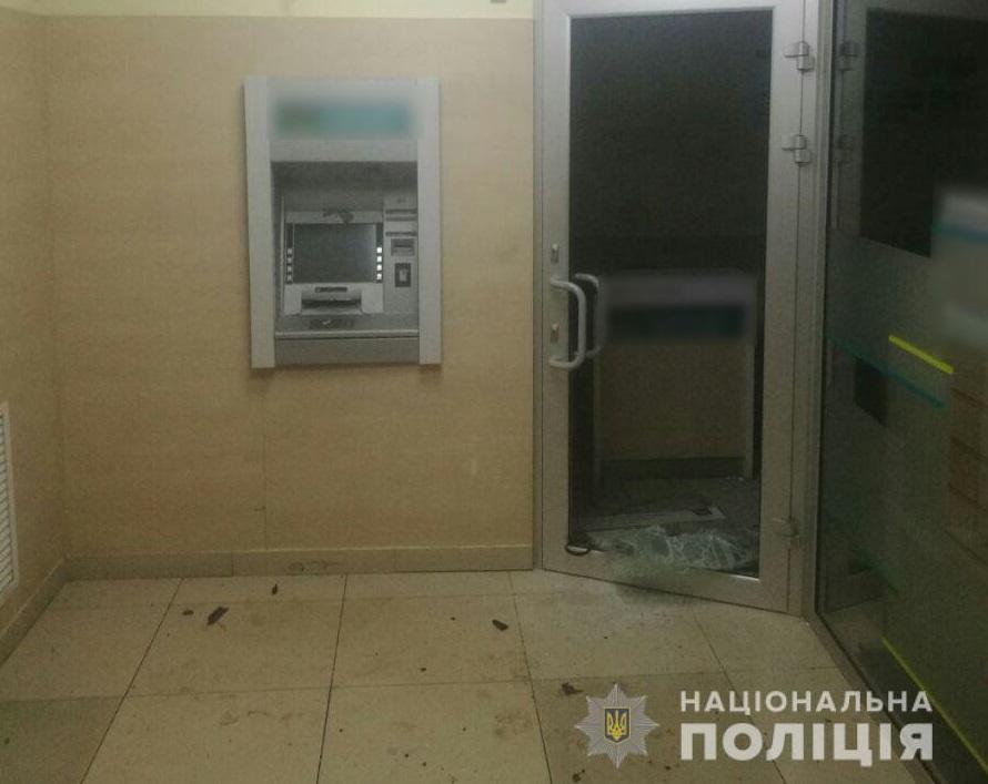 В Харькове неизвестные взорвали банкомат и похитили из него деньги