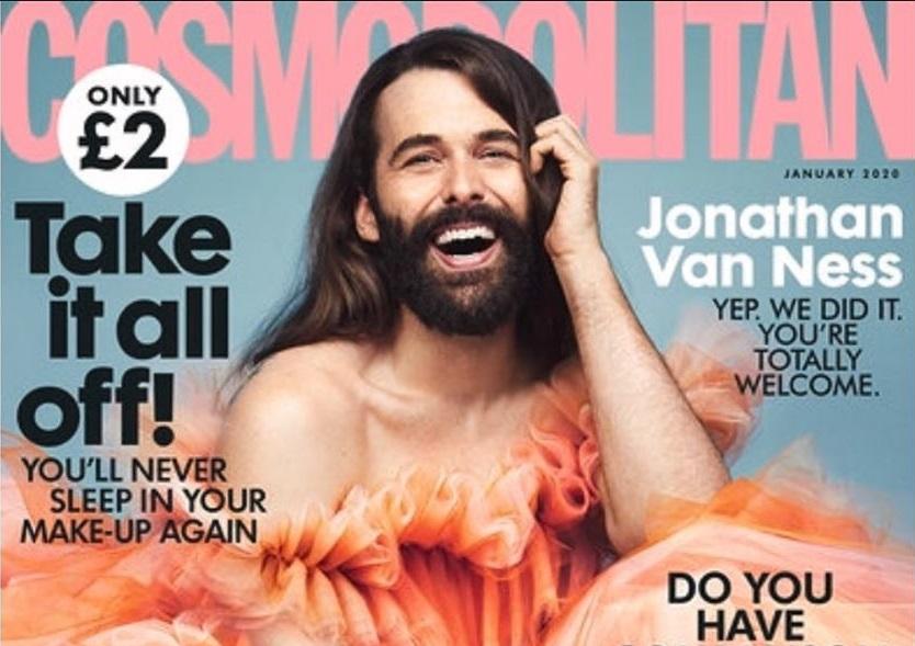Стилист, телеведущий и пародист: на обложке британского Cosmopolitan впе...