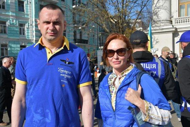 Олег Сенцов и Юлия Кузьменко, фото