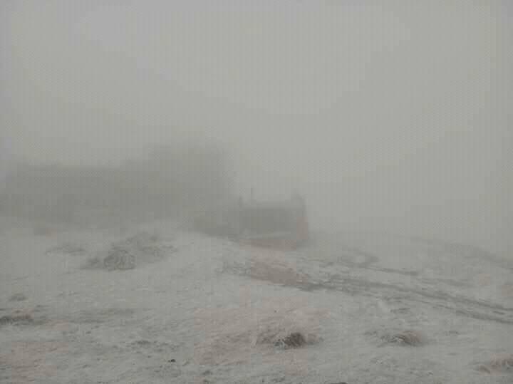 В Карпаты пришла зима. На высокогорье температура упала ниже ноля и выпа...