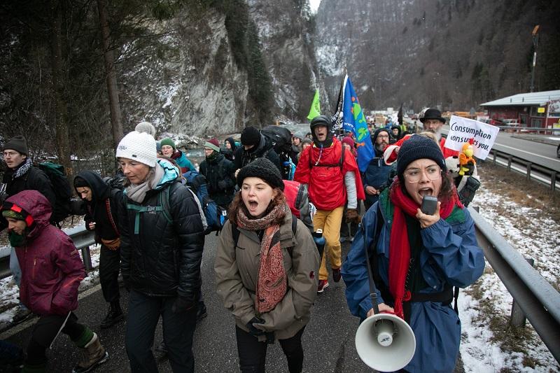 климатический марш, Давос, Швейцария, активисты, фото