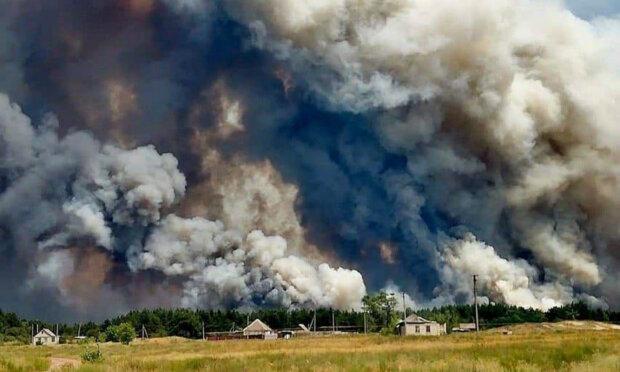 В Штабе ООС подтвердили, что пожар на Луганщине вызвали сепаратисты свои...