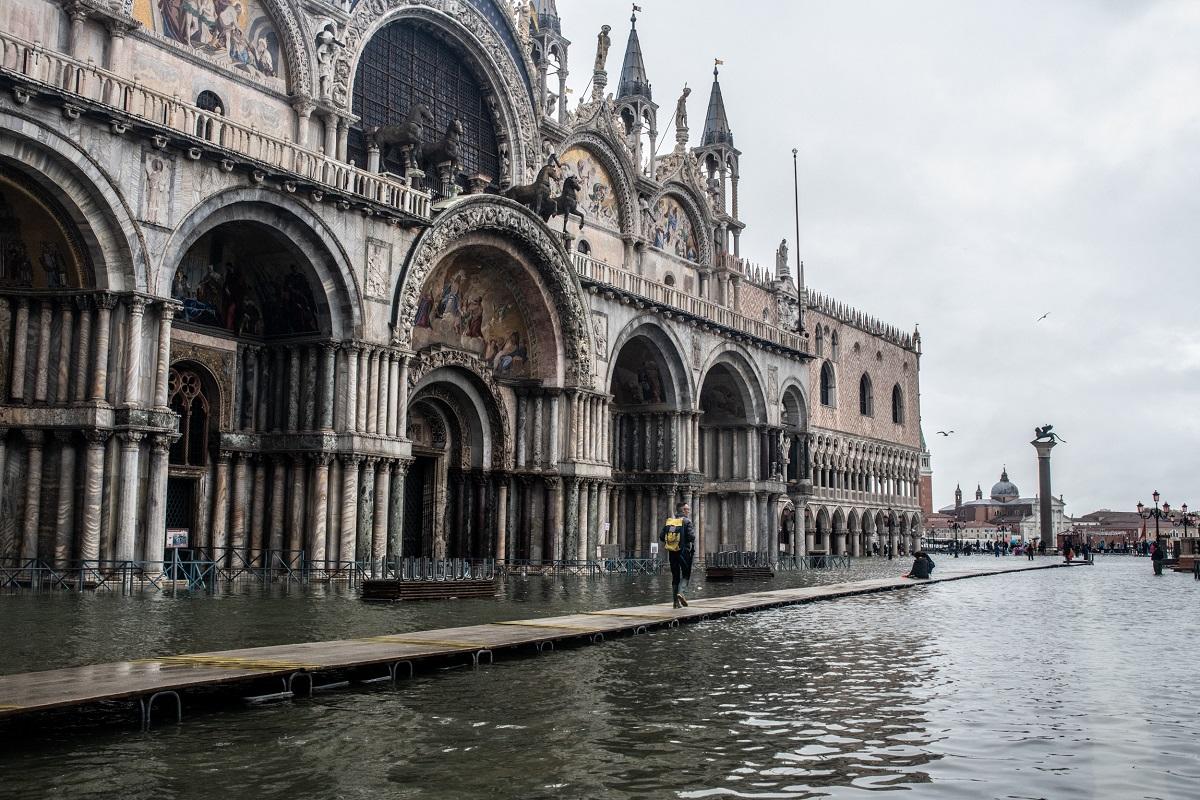 Фото, наводнение в Венеции, Венеция потоп 2019, собор Святого Марка