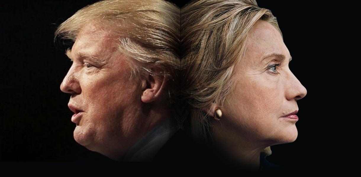 Клинтон опережает Трампа на выборах президента США, - опрос