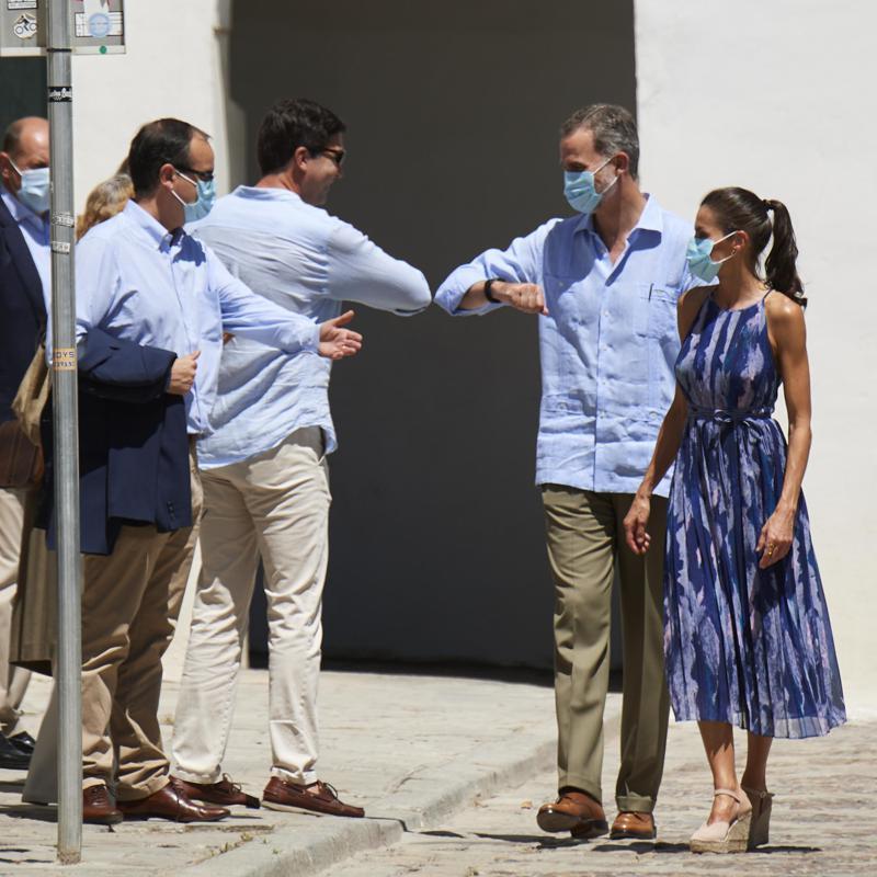 Королева Летиция и король Филипп VI посетили Севилью в рамках своего тур...