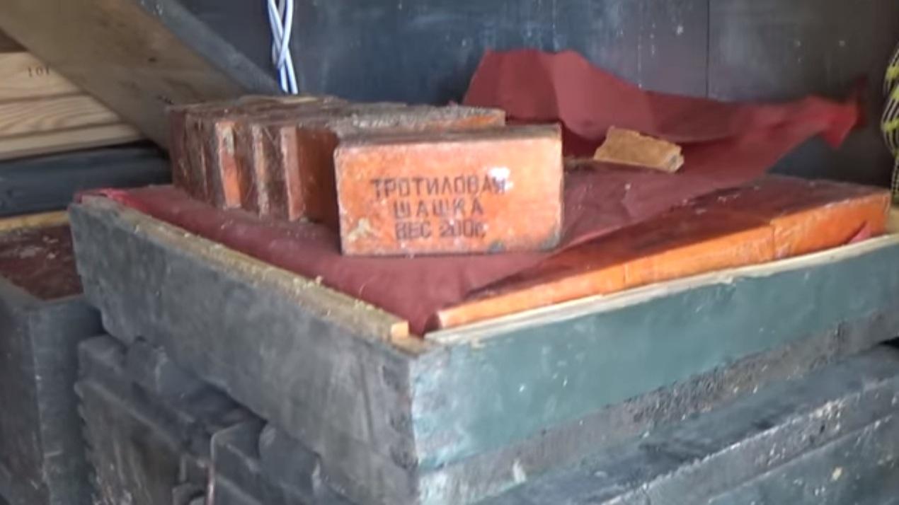 СБУ обнаружила в зоне АТО схрон с почти двумя тоннами тротила