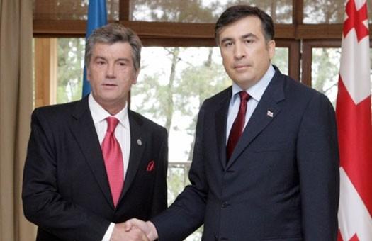 К Ющенко едет Саакашвили