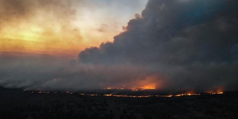 NASA показало спутниковые фотографии пожара в Чернобыльской зоне