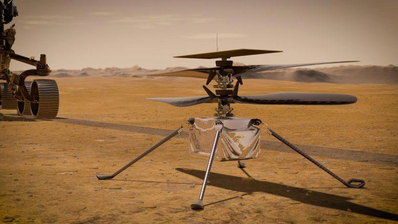 Полет нормальный. Вертолет марсохода Perseverance впервые заработал в ко...
