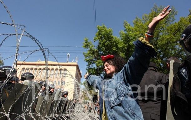 В Ереване полиция против демонстрантов применила слезоточивый газ