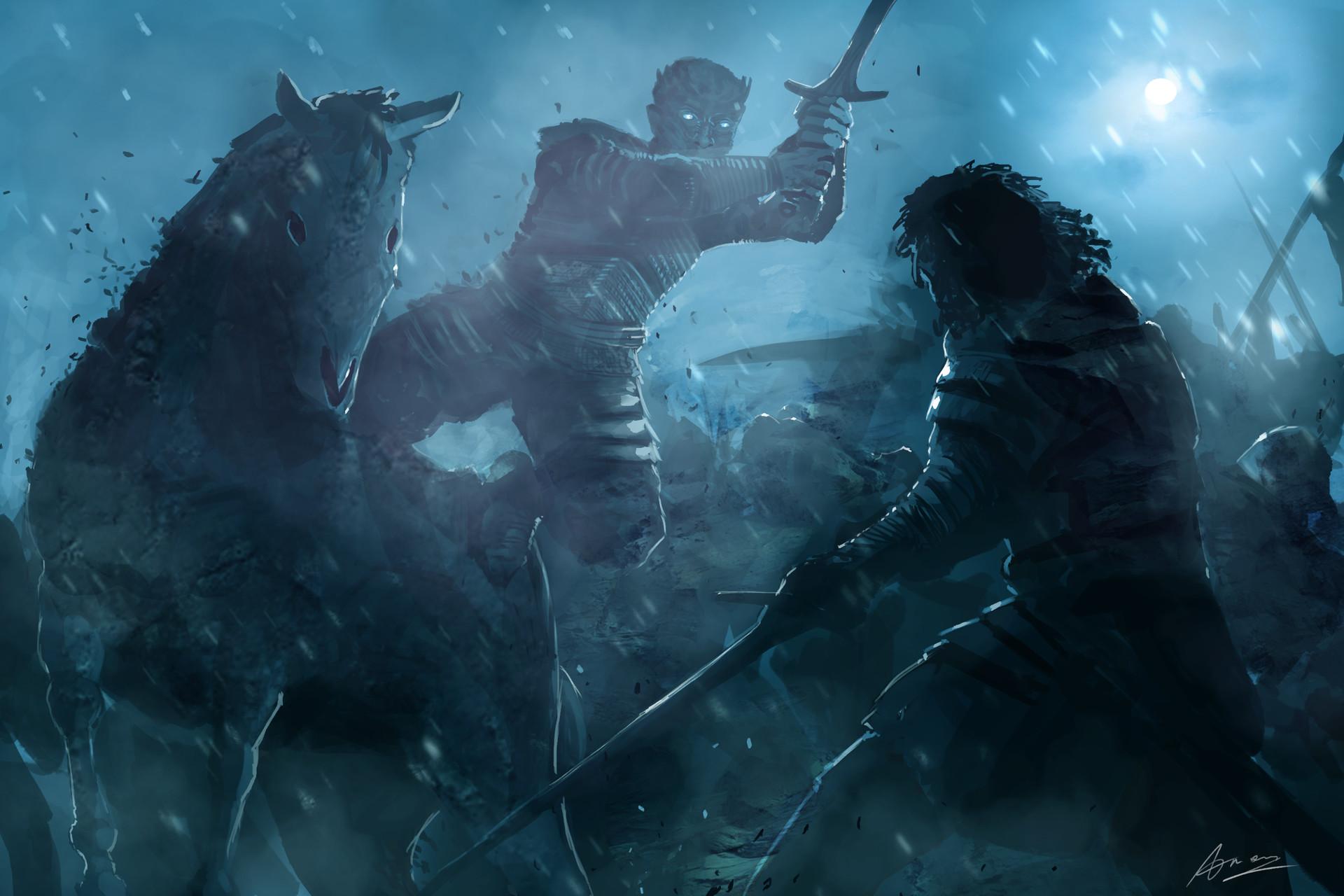 """Битва Джона Сноу и Короля Ночи состоится """"завтра до восхода"""""""