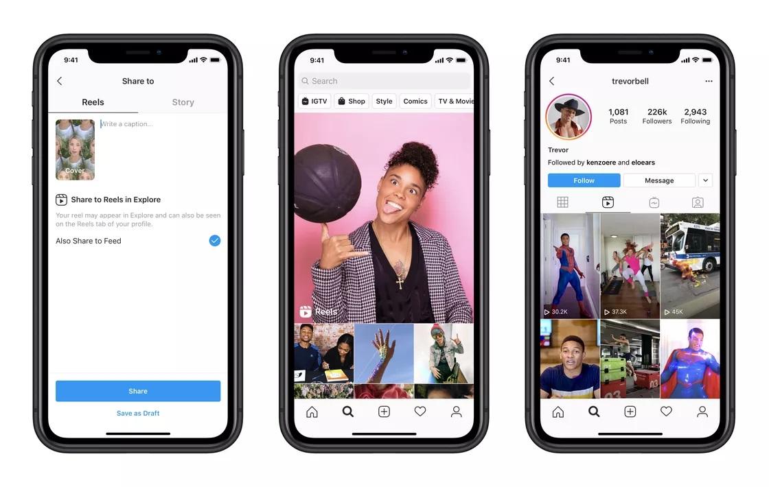 Соцсеть Instagram в 50 странах запустила аналог TikTok