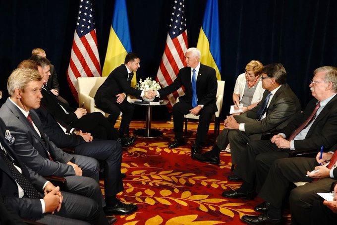 Встреча с президентом Зеленским была прекрасной, – Майк Пенс