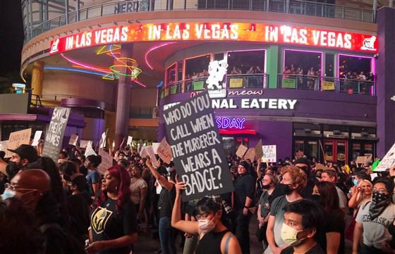 протесты, джодж флойд, лас-вегас